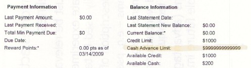 New credit card statement....is that right?